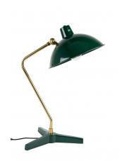 Lampa biurkowa zielono-złota w stylu vintage Devi 5200036 lampka stołowa Dutchbone