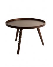 Stolik kawowy ciemnobrązowy Arabica L 2200004 stolik do salonu Dutchbone