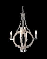 Lampa wisząca Portland P04254NI WD COSMOLight dekoracyjna drewniana oprawa wisząca