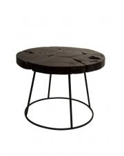 Stolik kawowy w stylu rustykalnym Kraton 2300044 stolik z drewna tekowego Dutchbone