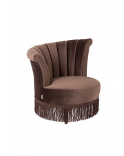 Fotel w kolorze ciemnego brązu Flair 3100055 Dutchbone