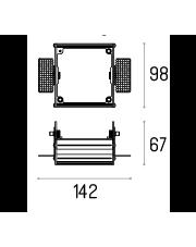 Rama montażowa 4.1849 do lampy wpuszczanej Multiva Evo Trimless Inset 60.1 Labra