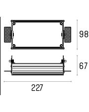 Rama montażowa 4.1853 do lampy wpuszczanej Multiva Evo Trimless Inset 60.2 Labra