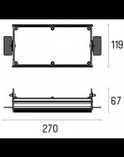 Rama montażowa 4.1863 do lampy wpuszczanej Multiva Evo Trimless Inset 80.2 Labra