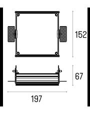 Rama montażowa 4.1805 do lampy wpuszczanej Multiva Evo Trimless Inset 115.1 Labra