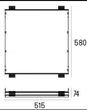 Rama montażowa 4.2105 do lampy wpuszczanej Solid Area 5.0 WP Labra