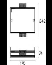 Rama montażowa 4.2108 do lampy wpuszczanej Solid Lightbox 185.1 WP Labra