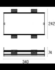 Rama montażowa 4.2109 do lampy wpuszczanej Solid Lightbox 185.2 WP Labra