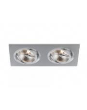 Oczko stropowe Catli 2xAR111 BPM Lighting prostokątna oprawa wpuszczana w kolorze białym