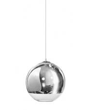 OUTLET Lampa wisząca Silver Ball 35 LP5034-L AZzardo kulista chromowana oprawa wisząca