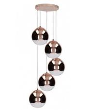 OUTLET Lampa wisząca Gino Britop 5801513 SPOTLight miedziana efektowna oprawa wisząca