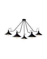 OUTLET Lampa sufitowa Hats 5 10501506 oprawa sufitowa czarna Kaspa