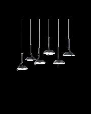 Lampa wisząca Barby SP6 190778 Ideal Lux nowoczesna lampa w kolorze czarnym