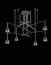 Żyrandol Fish SP6 196992 Ideal Lux oprawa w nowoczesnym czarnym stylu