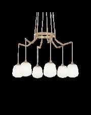 Żyrandol Karousel SP6 206387 Ideal Lux lampa w kolorze mosiężnym
