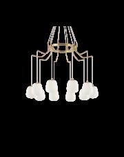 Żyrandol Karousel SP10 206394 Ideal Lux lampa w kolorze mosiężnym