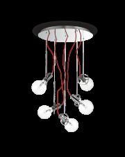 Lampa Wisząca Radio SP5 141145 Ideal Lux nowoczesna oprawa w kolorze chromu