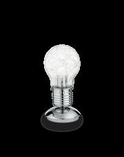 Lampa Stołowa Luce Max TL1 Small 033686 Ideal Lux nowoczesna szklana oprawa w kolorze aluminium