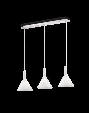 Lampa wisząca Cocktail SP3 074245 Ideal Lux potrójna nowoczesna oprawa w kolorze białym