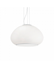 Lampa wisząca Mama SP1 D40 071015 Ideal Lux zaokrąglona nowoczesna oprawa w kolorze białym