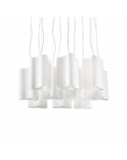 Lampa wisząca Compo SP10 208053 Ideal Lux dekoracyjna oprawa w kolorze białym