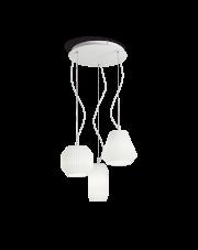 Lampa wisząca Origami SP3 198095 Ideal Lux potrójna biała oprawa w dekoracyjnym stylu