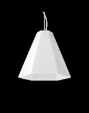 Lampa wisząca Cairo SP1 D40 208169 Ideal Lux geometryczna oprawa w kolorze białym