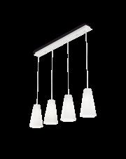 Lampa wisząca Cairo SP4 D15 208183 Ideal Lux poczwórna biała oprawa na listwie