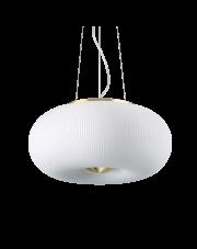 Lampa wisząca Arizona SP3 214474 Ideal Lux biało-miedziana oprawa w dekoracyjnym stylu
