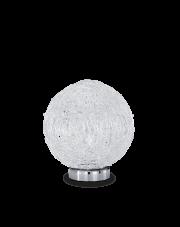 Lampa stołowa Emis TL D16 013756 Ideal Lux dekoracyjna oprawa w kolorze niklu