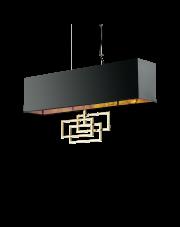 Lampa wisząca Luxury SP6 219738 Ideal Lux czarno-miedziana oprawa w dekoracyjnym stylu