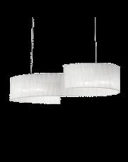 Lampa wisząca Nastrino SP4 088631 Ideal Lux biała oprawa w dekoracyjnym stylu