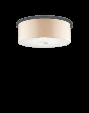 Plafon Woody PL5 090863 Ideal Lux kremowa oprawa sufitowa w minimalistycznym stylu