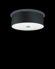 Plafon Woody PL4 103273 Ideal Lux czarna oprawa sufitowa w minimalistycznym stylu