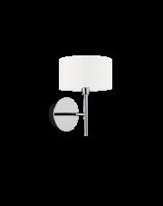 Kinkiet Woody AP1 143156 Ideal Lux biała oprawa ścienna w nowoczesnym stylu