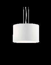 Lampa wisząca Wheel SP3 009681 Ideal Lux biała oprawa w nowoczesnym stylu