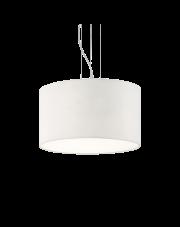 Lampa wisząca Wheel SP5 009698 Ideal Lux biała oprawa w nowoczesnym stylu