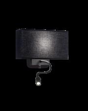 Kinkiet Hotel AP2 215709 Ideal Lux nowoczesna oprawa ścienna w kolorze czarnym