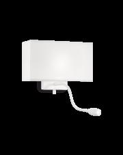 Kinkiet Hotel AP2 215693 Ideal Lux biała oprawa ścienna w nowoczesnym stylu
