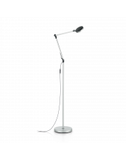 Lampa podłogowa Futura PT1 204956 Alluminio Ideal Lux nowoczesna ruchoma oprawa w kolorze aluminium
