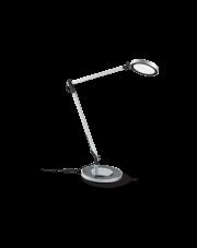 Lampa stołowa Futura TL1 204895 Alluminio Ideal Lux ruchoma aluminiowa oprawa w nowoczesnym stylu