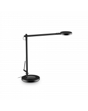 Lampa stołowa Futura TL1 204888 Nero Ideal Lux ruchoma czarna oprawa w nowoczesnym stylu