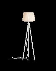 Lampa podłogowa Fit PT1 197036 Bianco Ideal Lux minimalistyczna oprawa w kolorze białym
