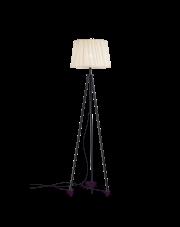 Lampa podłogowa Fit PT1 220963 Nero Ideal Lux minimalistyczna oprawa w kolorze czarnym