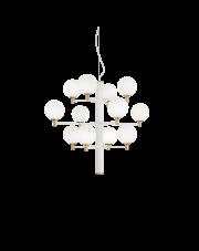 Żyrandol Copernico SP12 Bianco 197302 Ideal Lux dekoracyjna oprawa wisząca w kolorze białym