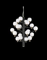 Żyrandol Copernico SP20 Nero 197333 Ideal Lux dekoracyjna oprawa wisząca w kolorze czarnym