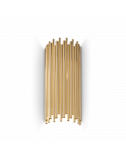 Kinkiet Pan AP2 208794 Ideal Lux dekoracyjna oprawa ścienna w kolorze złotym