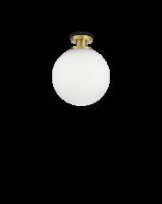 Plafon Loko PL1 197944 Ideal Lux biało-mosiężna oprawa w kształcie kuli