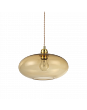 Lampa wisząca Blob SP1 207988 Ideal Lux bursztynowa oprawa w nowoczesnym stylu