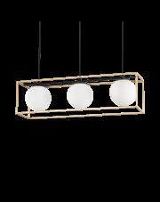 Lampa wisząca Lingotto SP3 198125 Ideal Lux potrójna oprawa wisząca w stylu loft